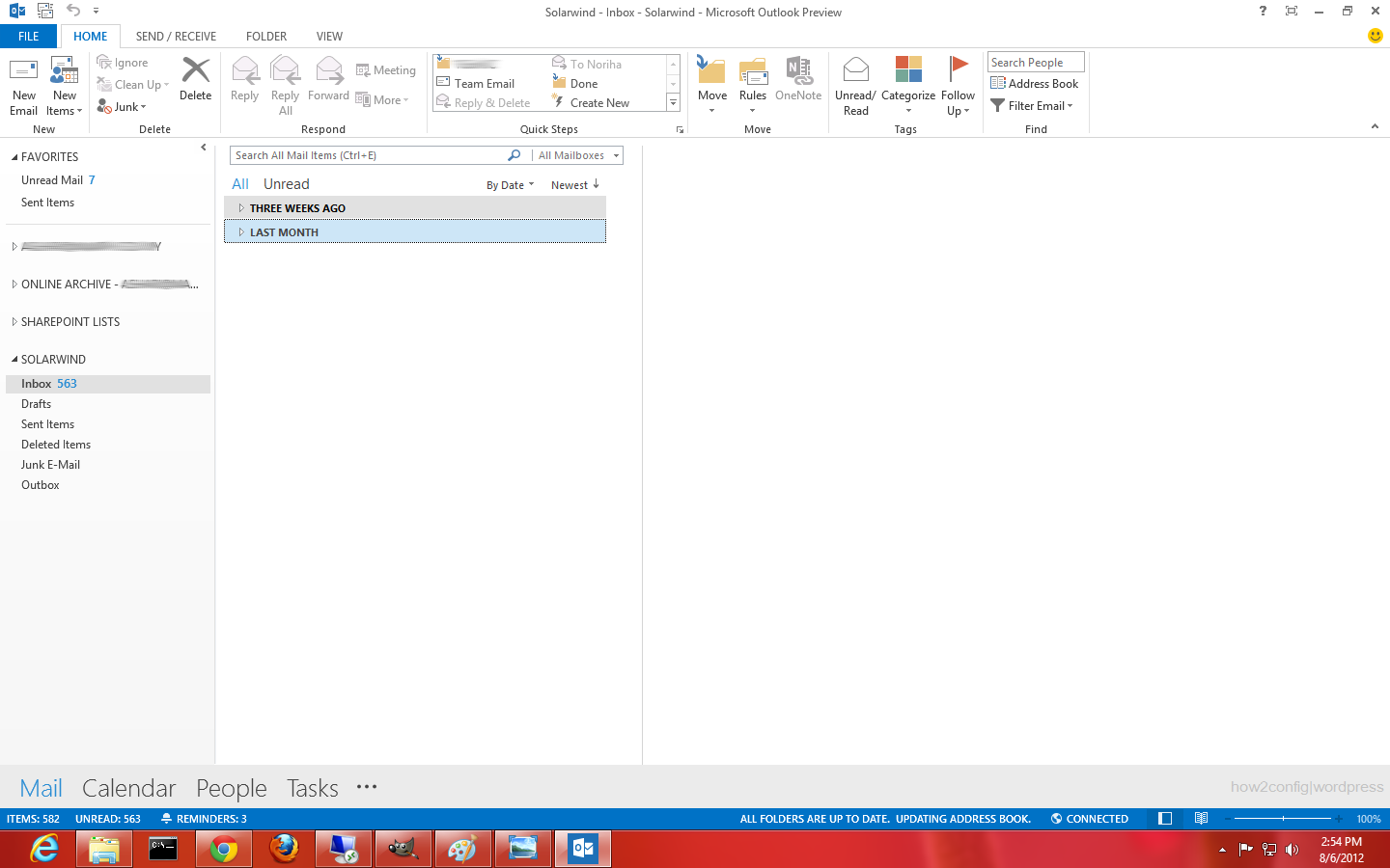 how to configure windows live mail 2012
