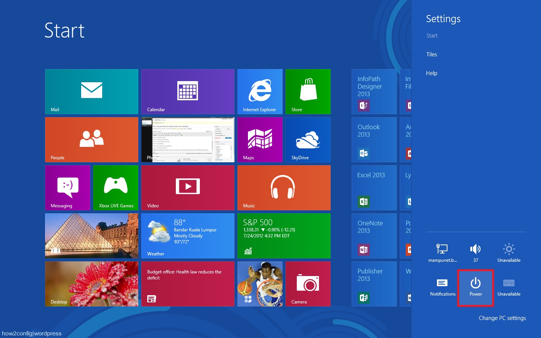 how to change shutdown settings windows 8