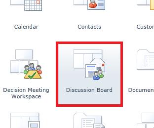 create discussion board2