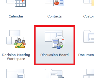 create discussion board2