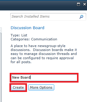 create discussion board3
