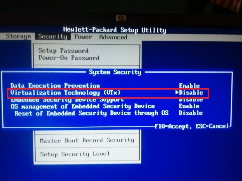 How to Enable Virtualization in BIOS HP Compaq 6000 Pro