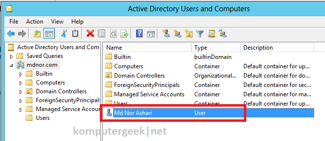 create new user using adac6