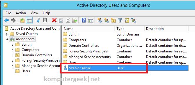 create new user using adac6