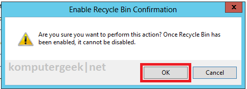 enable deleted object on 2012_3