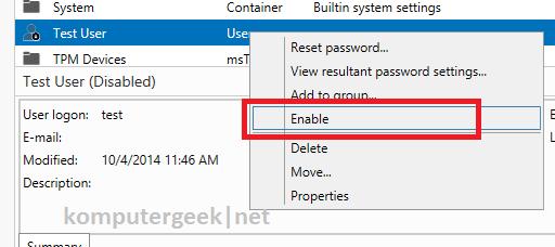 enable user using adac