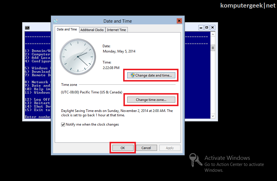 Change the Computer Data and Time (30)