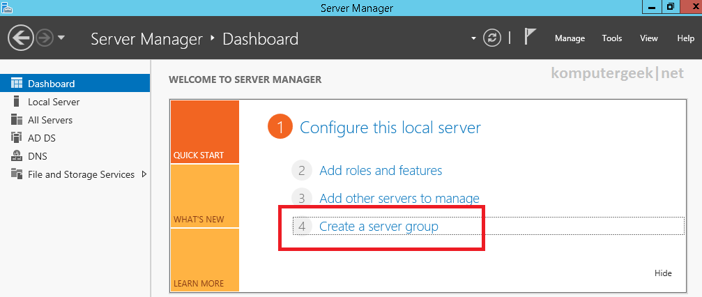 Create a Server Group (53)