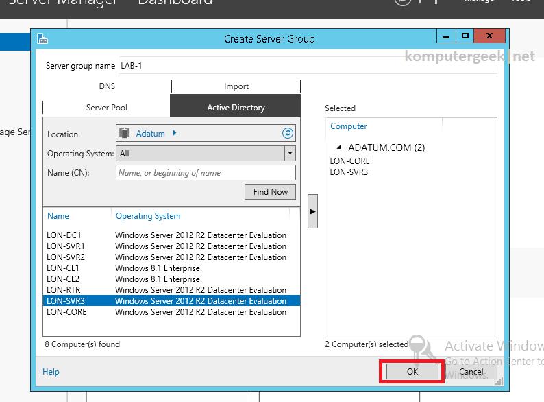 Create a Server Group (55)