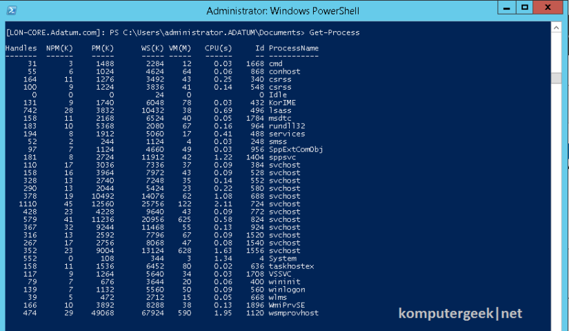 Use Windows PowerShell (77)